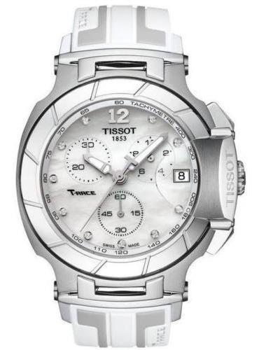 tissot t-race diamond crono reloj mujer t048.417.17.116.00