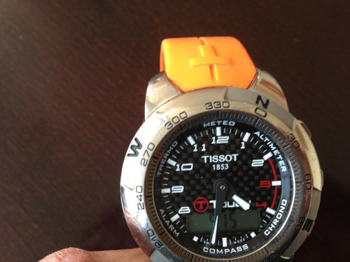 tissot t-touch expert titanium correa de caucho