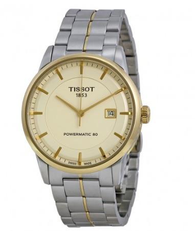tissot t0864072226100 luxury powermatic 80 reloj hombre