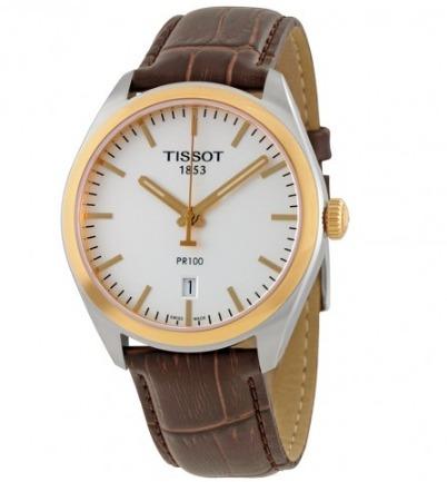 tissot t1014102603100 pr 100 brown reloj hombre