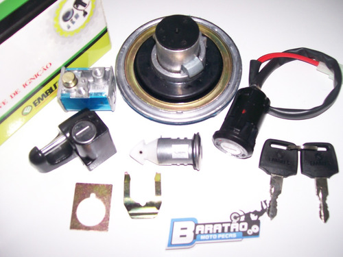 titan 125 fan 00 à 08 kit mesma chave ignição tampa trava
