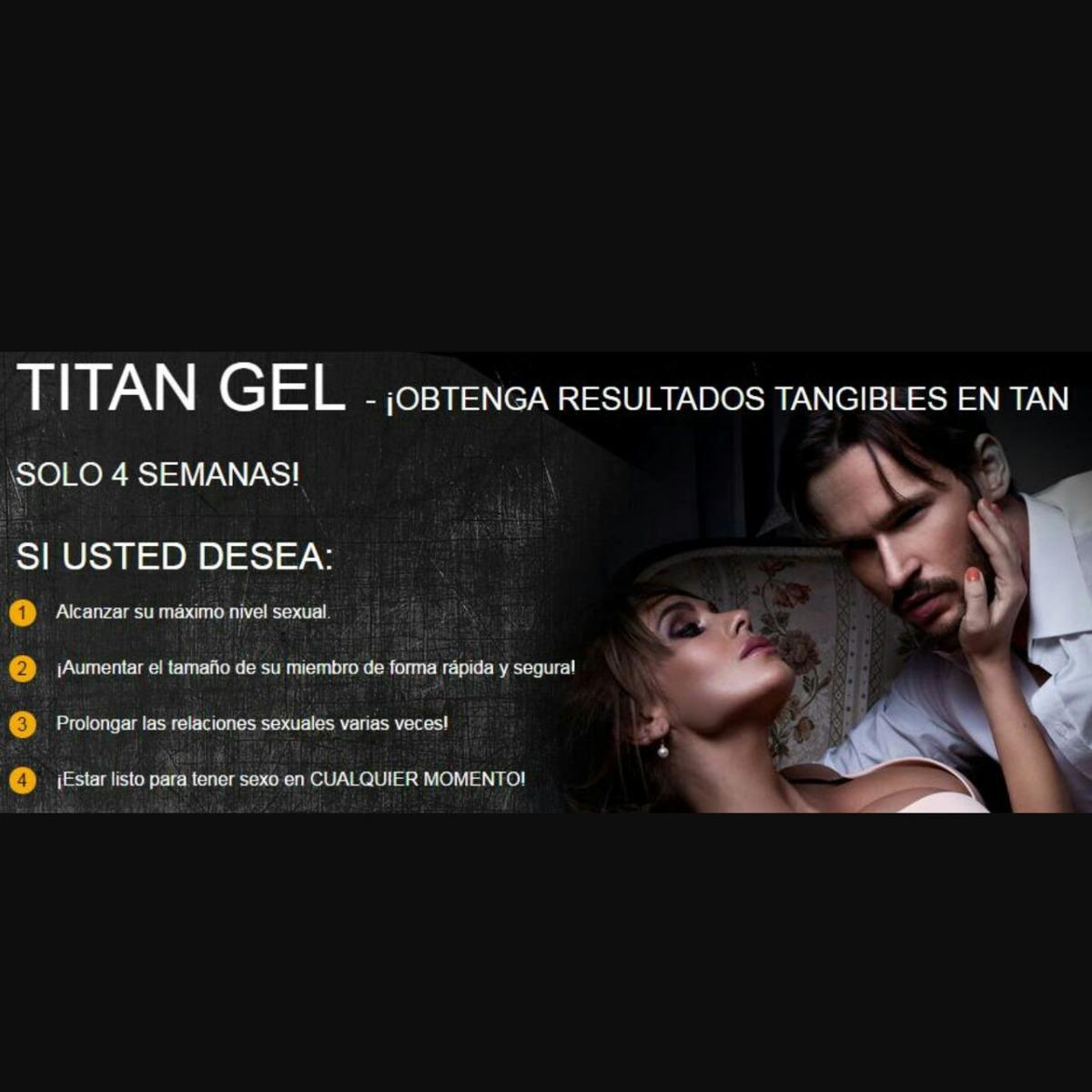 instrucciones de uso de titan gel