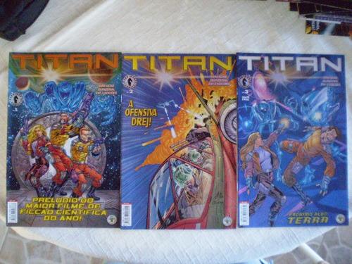 titan! mini-série em 3 edições!  editora abril jul 2000!