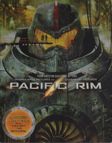 titanes del pacifico pacific rim steelbook blu-ray + dvd