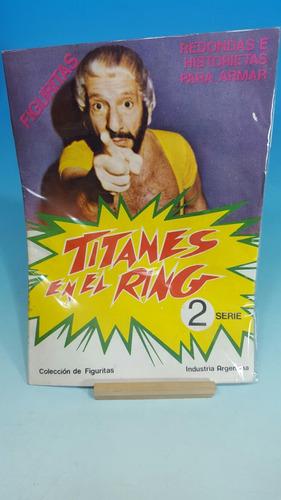 titanes en el ring -album nuevo sin usar