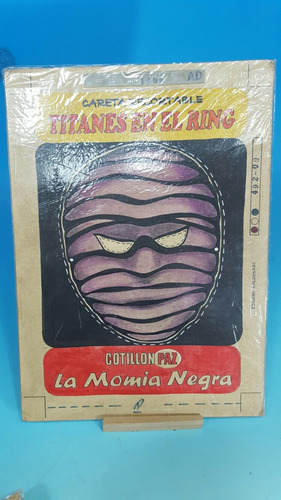 titanes en el ring boceto original de publicidad momia negra