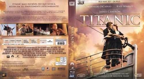 titanic bluray duplo c/ luva lacrado de fabrica oriignal