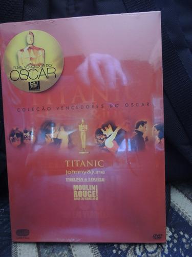 titanic (leonardo de caprio) + 3 super filmes - box dvd novo