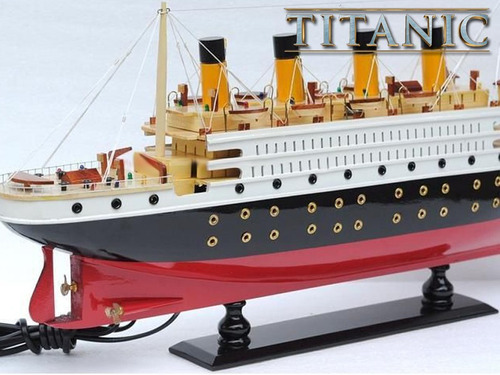 titanic réplica glorioso navio todo em madeira feito a mão