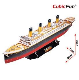 titanic rms grande cubicfun barcos rompecabezas 3d
