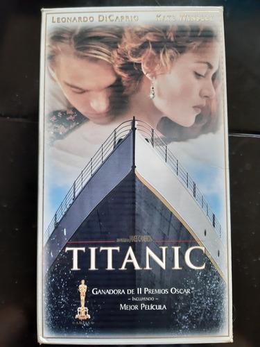 titanic vhs set de lujo con 2 cassettes