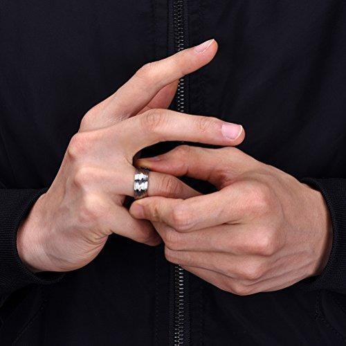 titanio joyas anillo