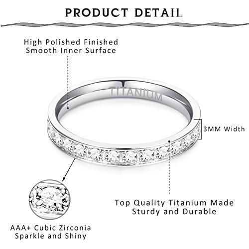 titanio joyería anillo