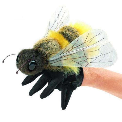 titere de abeja de peluche y felpa folkmanis para mano