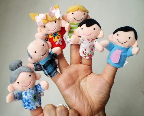 titeres de dedo x 6 unidades - familia !!!