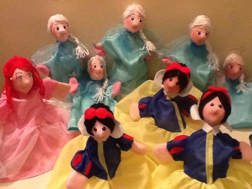 titeres de princesa, disney, cuentos de adas, cotillon.