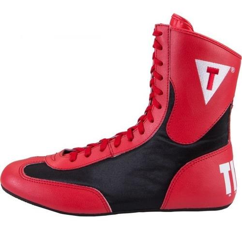 title speed flex encore mid botas boxeo negro blanco