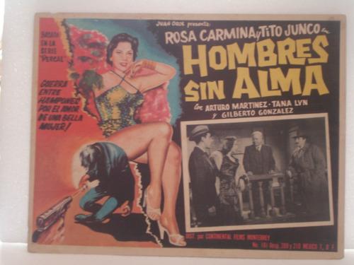 tito junco, hombres sin alma, cartel (lobby card)