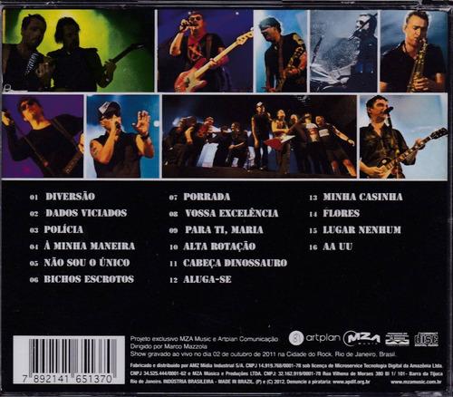 titãs e xutos & pontapés - cd ao vivo rock in rio