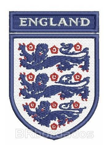 tiuk014 seleção inglaterra 2002 tag patch bordado 6,6x9,5 cm
