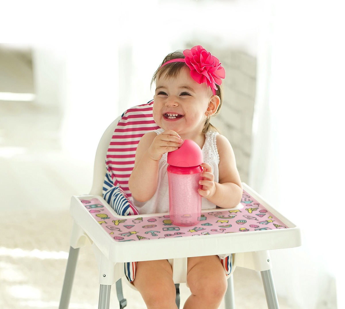 Tiva Design Baby Mantel Individual Juego 4 Pink Summer Ju ... 9b501f73f3