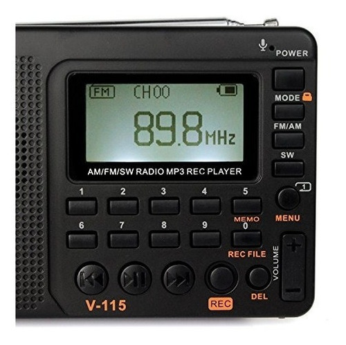 tivdio v-115 transmisor de ondas cortas portátil radio am /