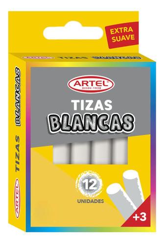 tiza blanca 12 unidades artel