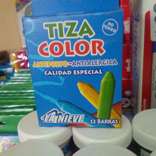 tiza de colores caja x 12  liquidacion