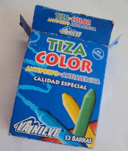 tiza de colores para pizarra (antialergica)