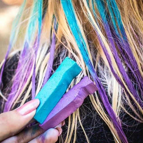 tiza para pelo crista colors lavable tintura