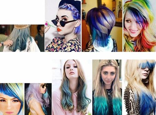tiza para teñir cabello pack de 12 original moda