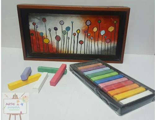 tiza pastel 12 colores