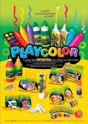 tizas color caja x12