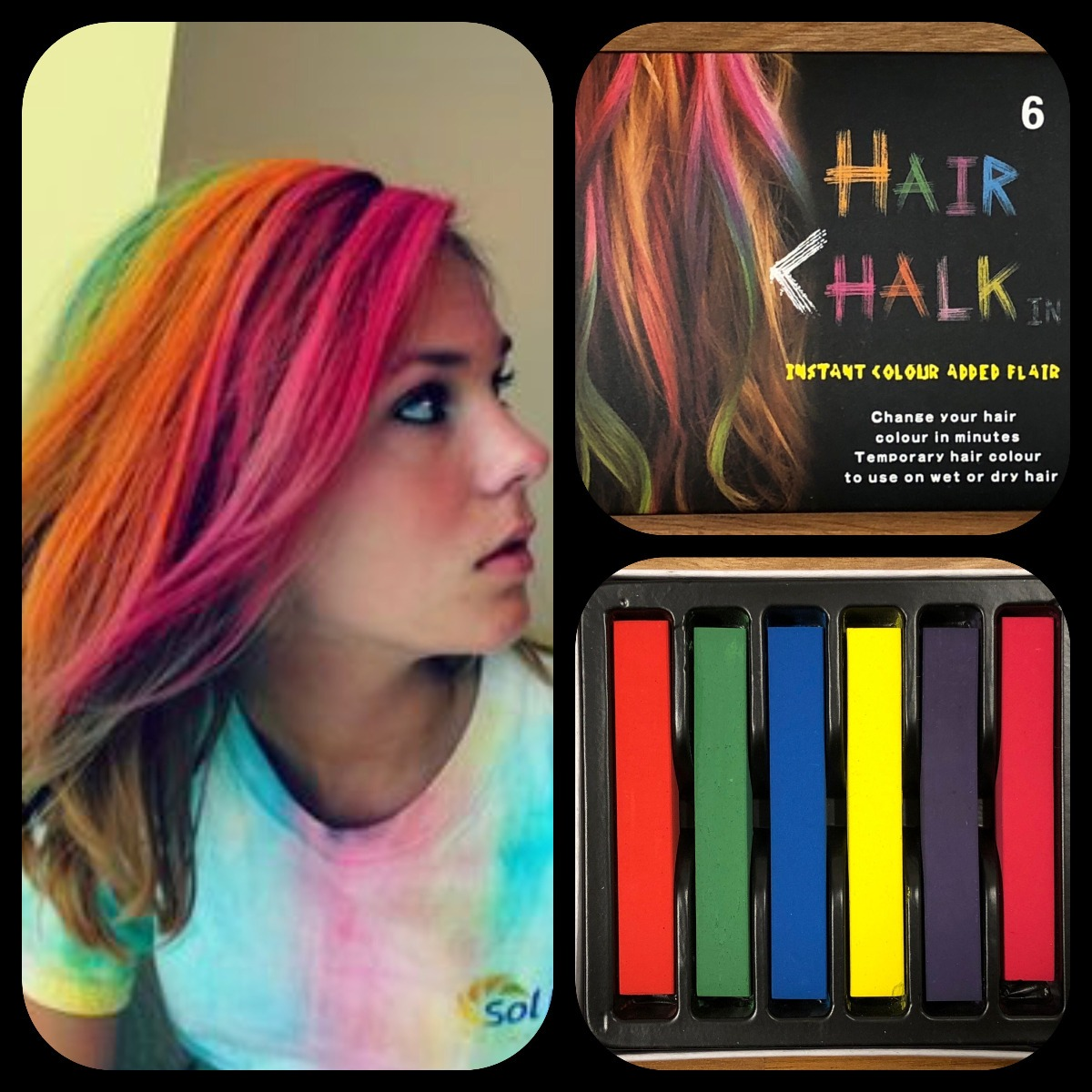 577fedb5e Tizas Para Pintar Teñir El Pelo Hair Chalk X 6 Unidades - $ 650,00 ...