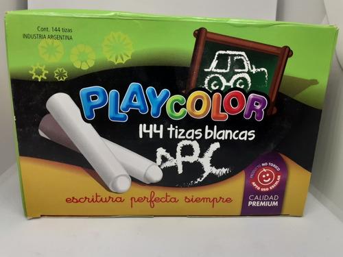 tizas playcolor x 144 unidades blancas