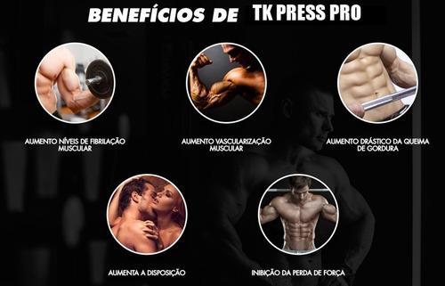 tk press pro termogênico + massa muscular frete grátis 3 potes