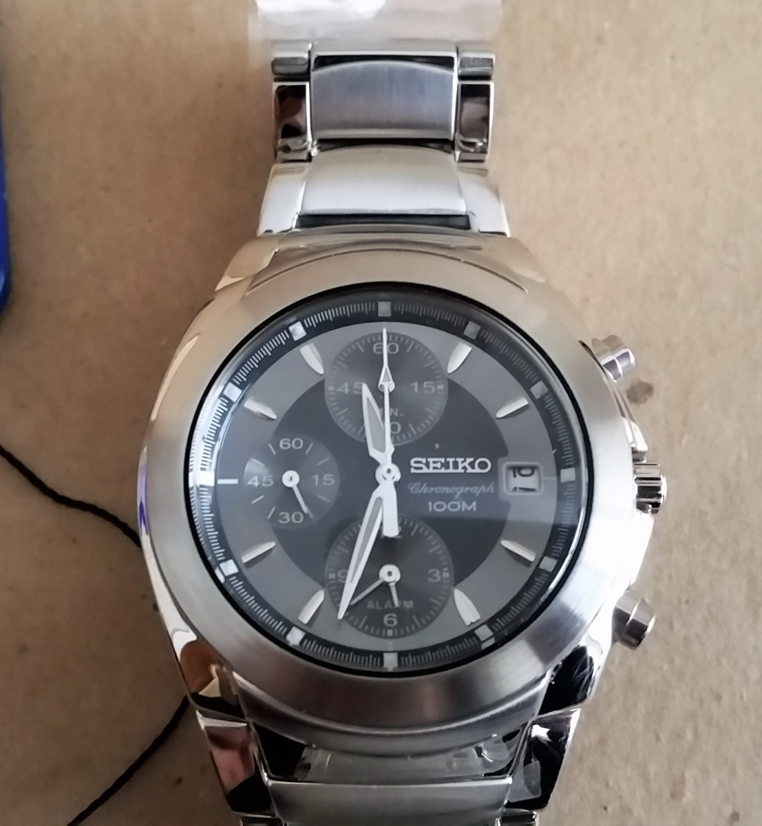 a2068f64fce tk0v relógio seiko chronograph watch sna421p1 cinza. Carregando zoom.