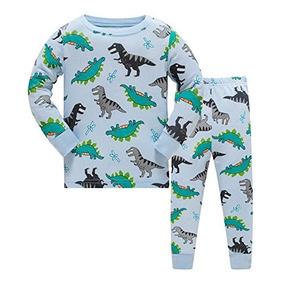 0988fa700 Tkala Fashion Boys Pijamas De Dinosaurio Ropa Para Ninos Con