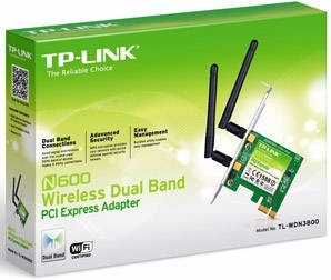 tl-wdn3800 n600 dual band wireless pci express adapter, qcom