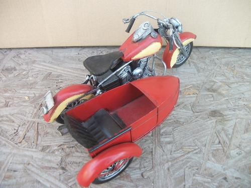 tm.moto sidecar de metal artesanal