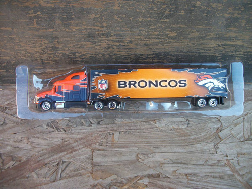 tm.nfl diecast tractor-trailer 1.80 broncos