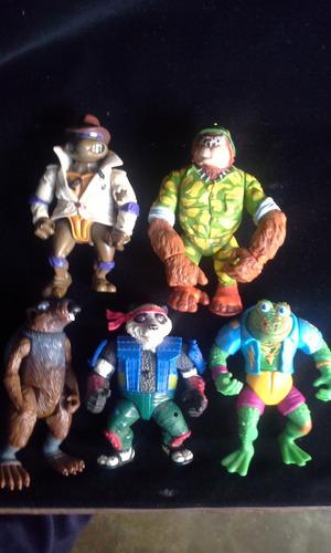 tmnt tortugas ninja turtles vintage playmates, minilote c/u.