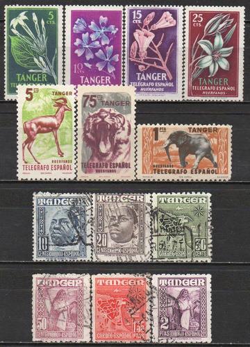 tânger - acumulação com 13 selos c9