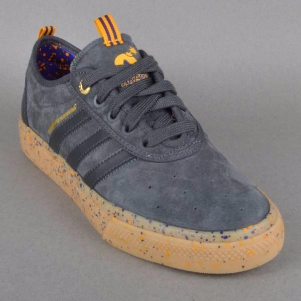 brand new 30d35 7e006 tênis adiase adidas skateboarding x the hundreds x lakers