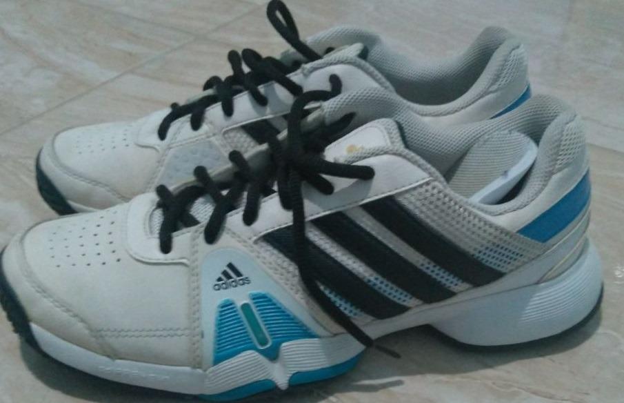 d3ea10cc223 Tênis adidas Adiwear - Branco preto E Azul - Usado Numero 39 - R  79 ...