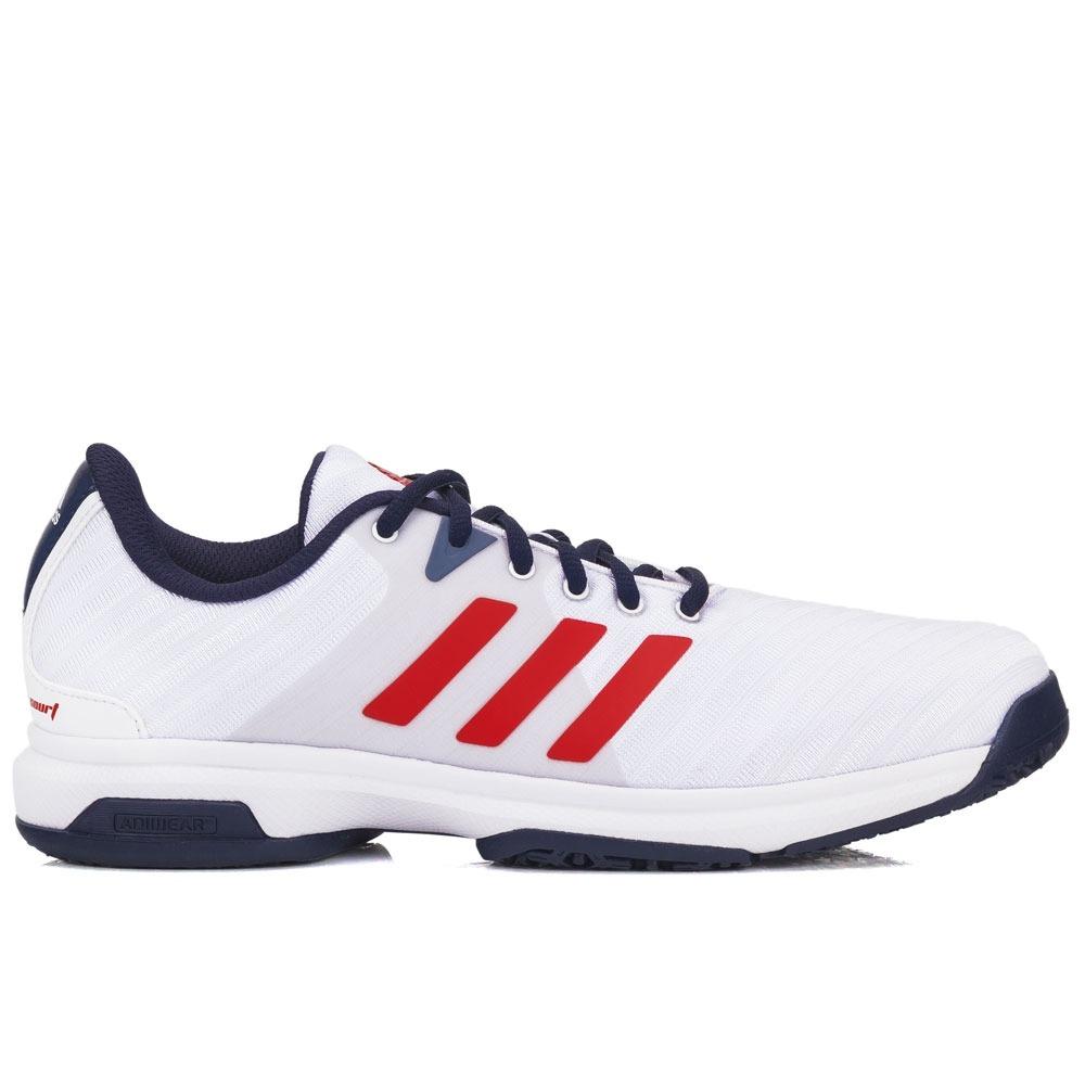 tênis adidas barricade court 3 branco e vermelho. Carregando zoom. 6f5549580f89d