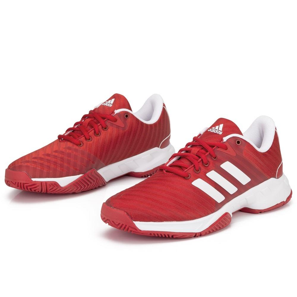 tênis adidas barricade court 3 vermelho e branco. Carregando zoom. 3c1dd75c8a71d