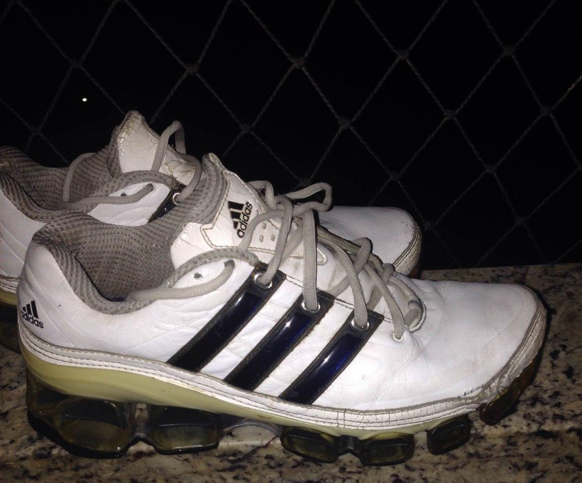 8fbcac4632 tênis adidas bounce couro branco com azul usado original 39. Carregando  zoom.