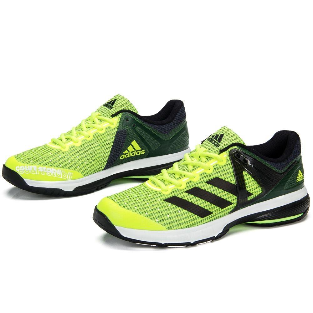 tênis adidas court stabil 13 verde limão preto e verde. Carregando zoom. b15f9e74af4