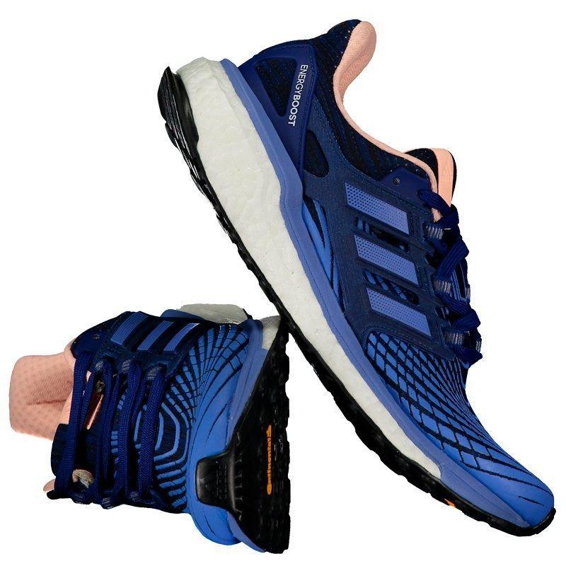 84c6c5356 tênis adidas energy boost feminino azul e rosa. Carregando zoom.